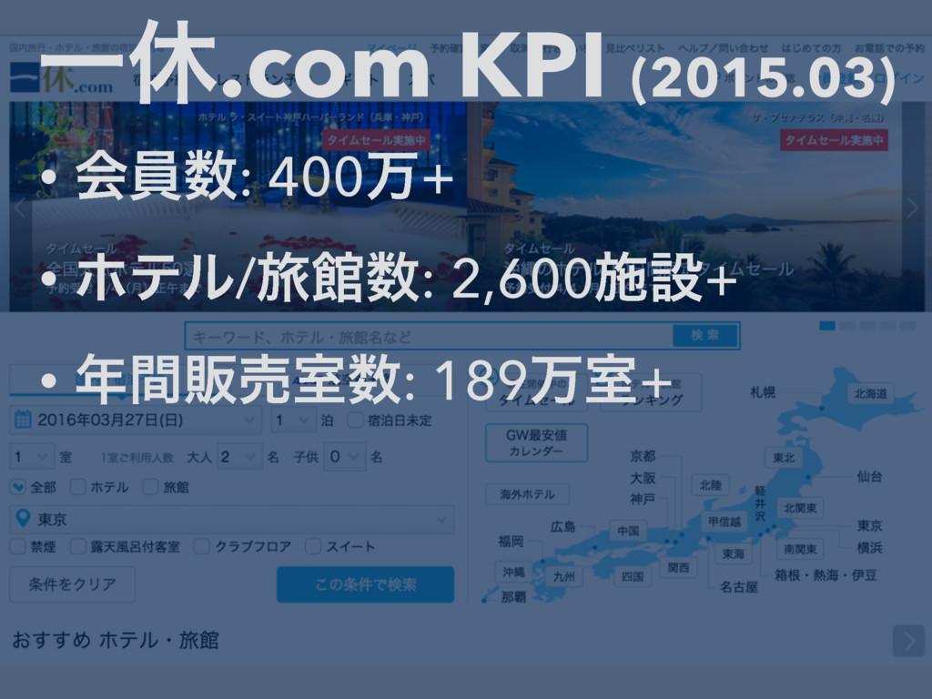 Ұٳ.com KPI (2015.03) • ձһ: 400ສ+ • ϗςϧ/ཱྀؗ: 2,...