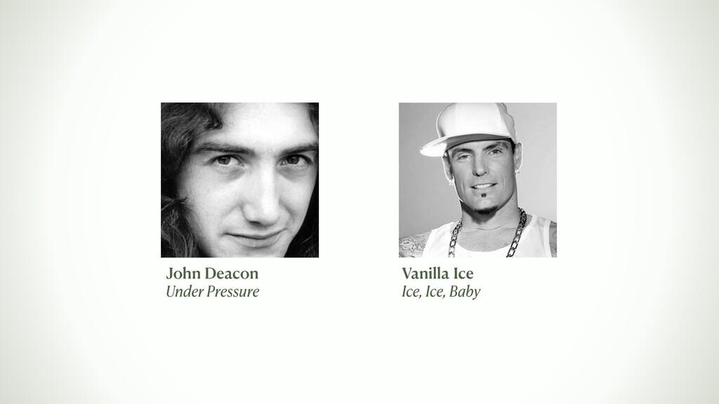 Vanilla Ice Ice, Ice, Baby John Deacon Under Pr...