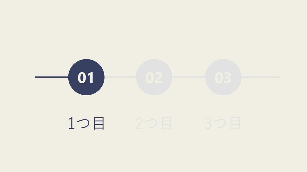 02 03 01 1つ⽬ 2つ⽬ 3つ⽬