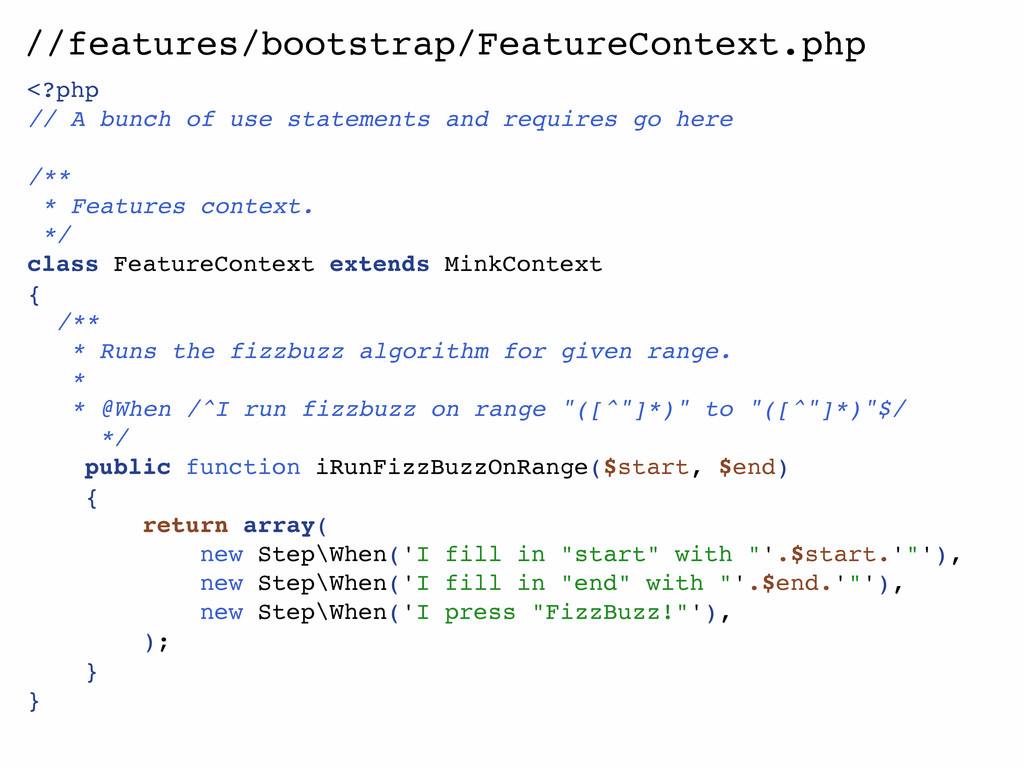 //features/bootstrap/FeatureContext.php <?php /...