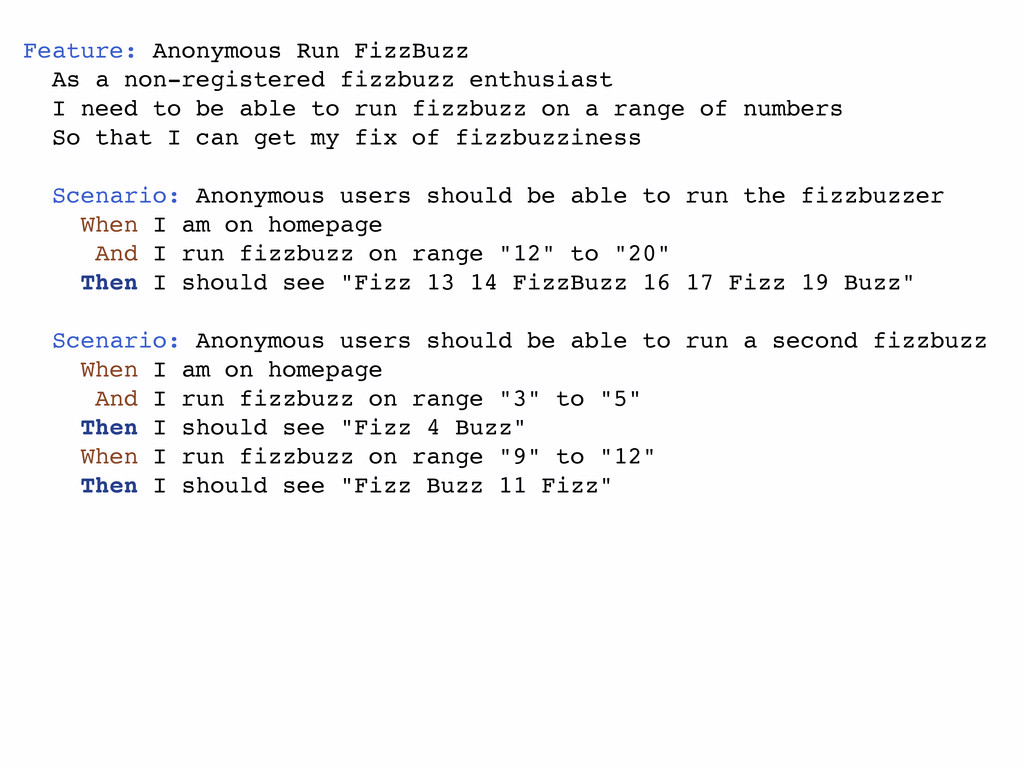 Feature: Anonymous Run FizzBuzz As a non-regist...