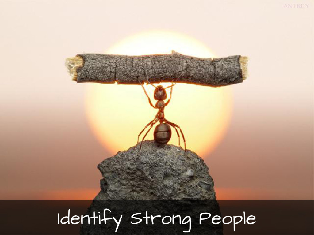 Identify Strong People