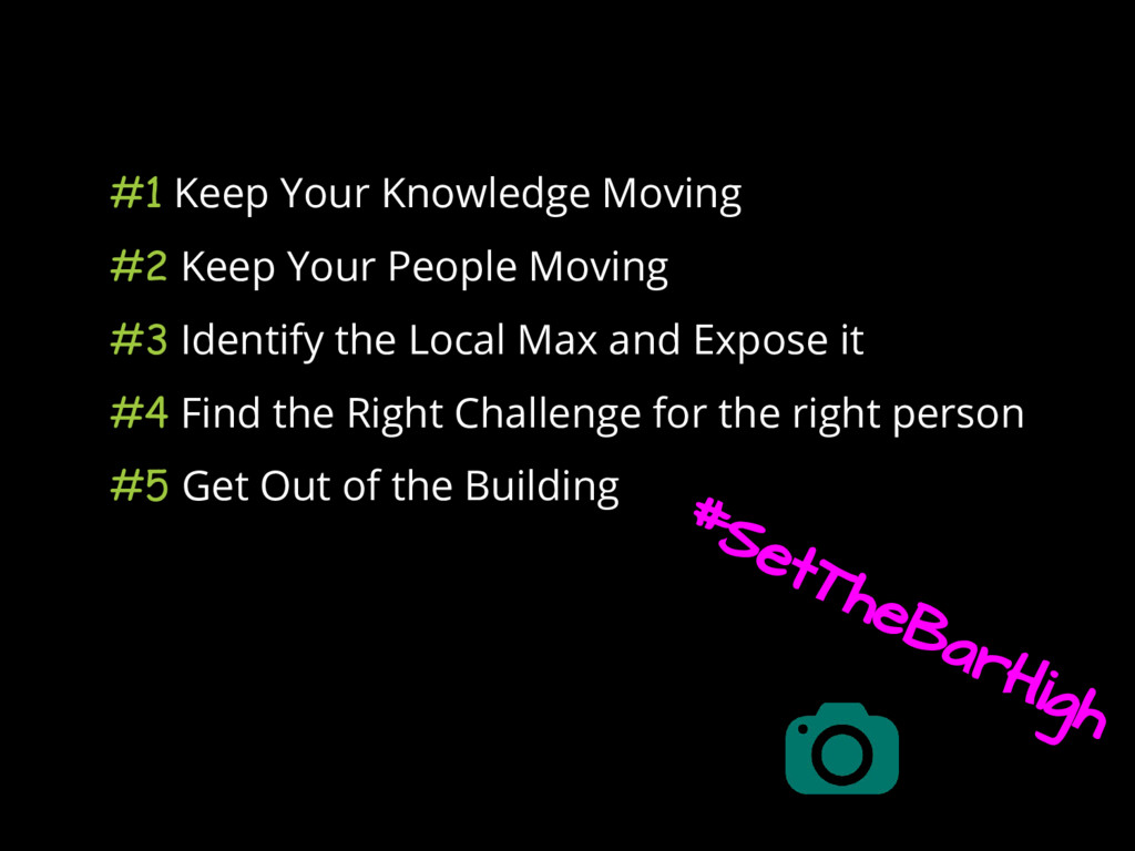 #1 Keep Your Knowledge Moving #2 Keep Your Peop...