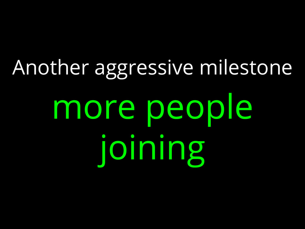 Another aggressive milestone more people joining