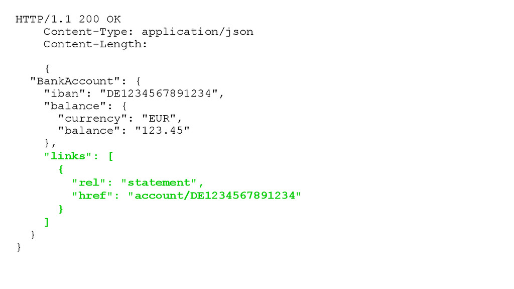 HTTP/1.1 200 OK Content-Type: application/json ...