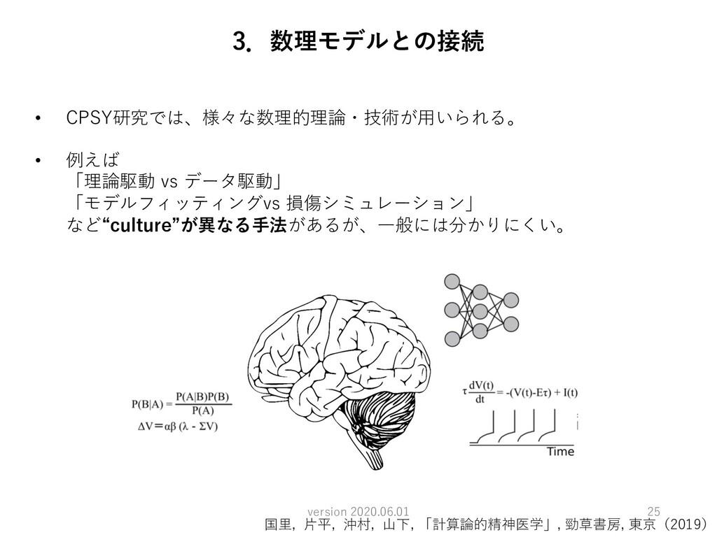 • CPSY研究では、様々な数理的理論・技術が⽤いられる。 • 例えば 「理論駆動 vs デー...