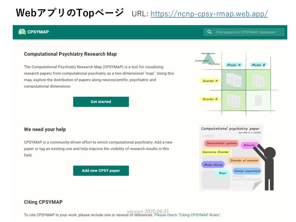 5 WebアプリのTopページ URL: https://ncnp-cpsy-rmap.web...