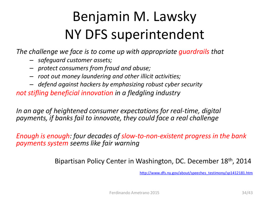 Benjamin M. Lawsky NY DFS superintendent The ch...