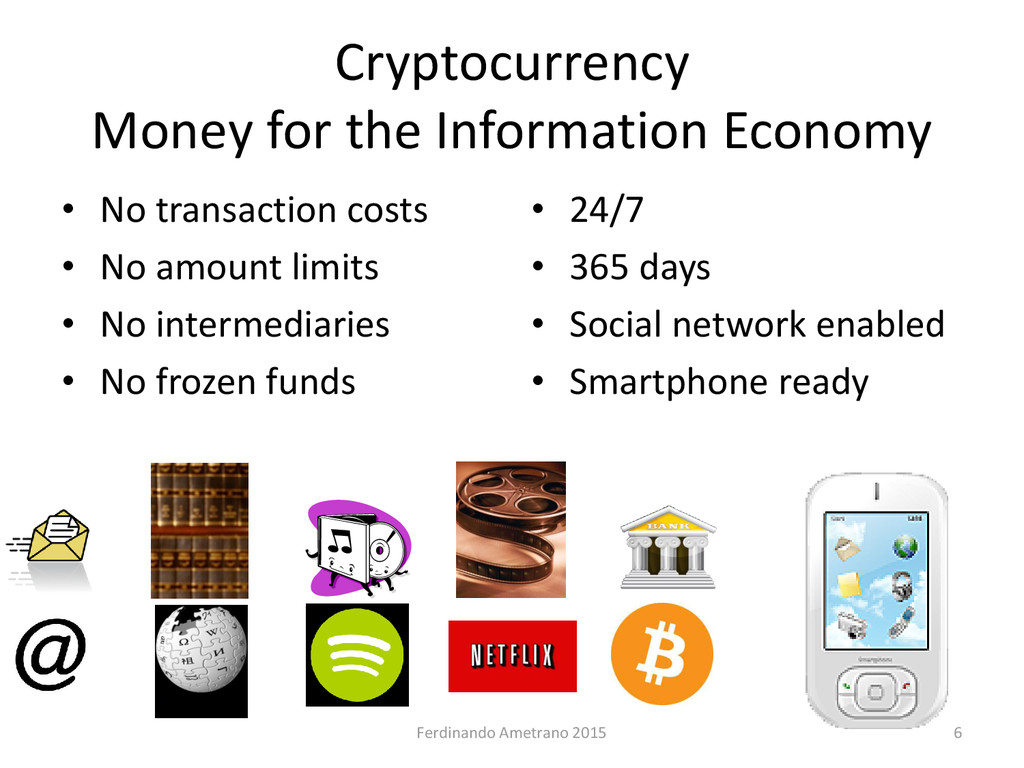 Cryptocurrency Money for the Information Econom...
