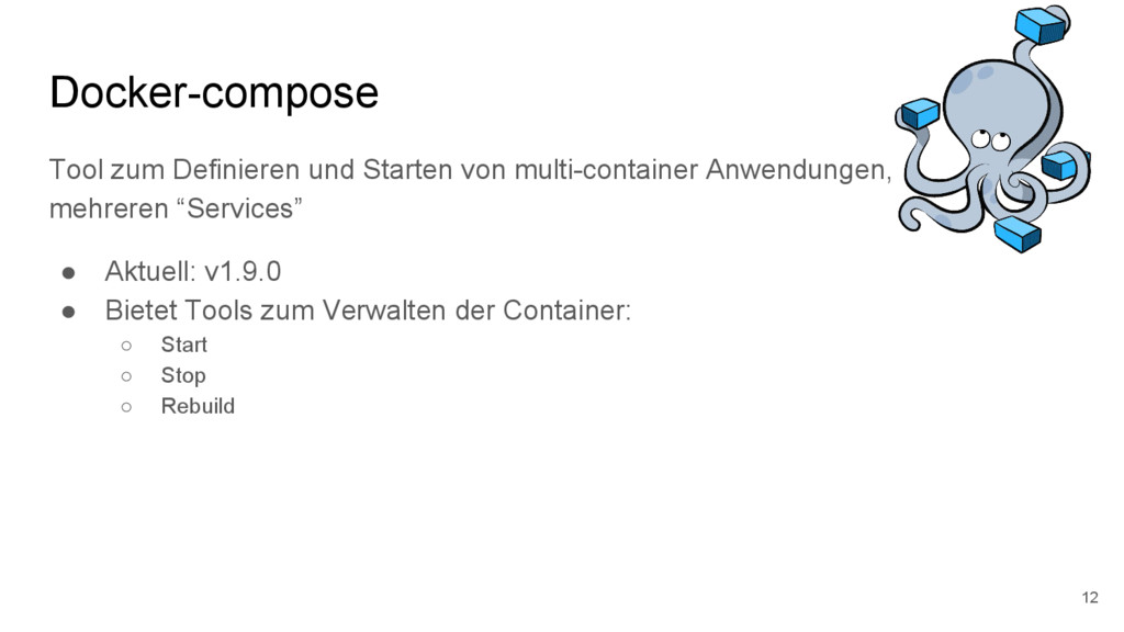 Docker-compose Tool zum Definieren und Starten ...