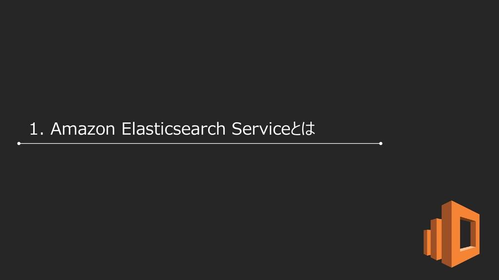 1. Amazon Elasticsearch Serviceとは