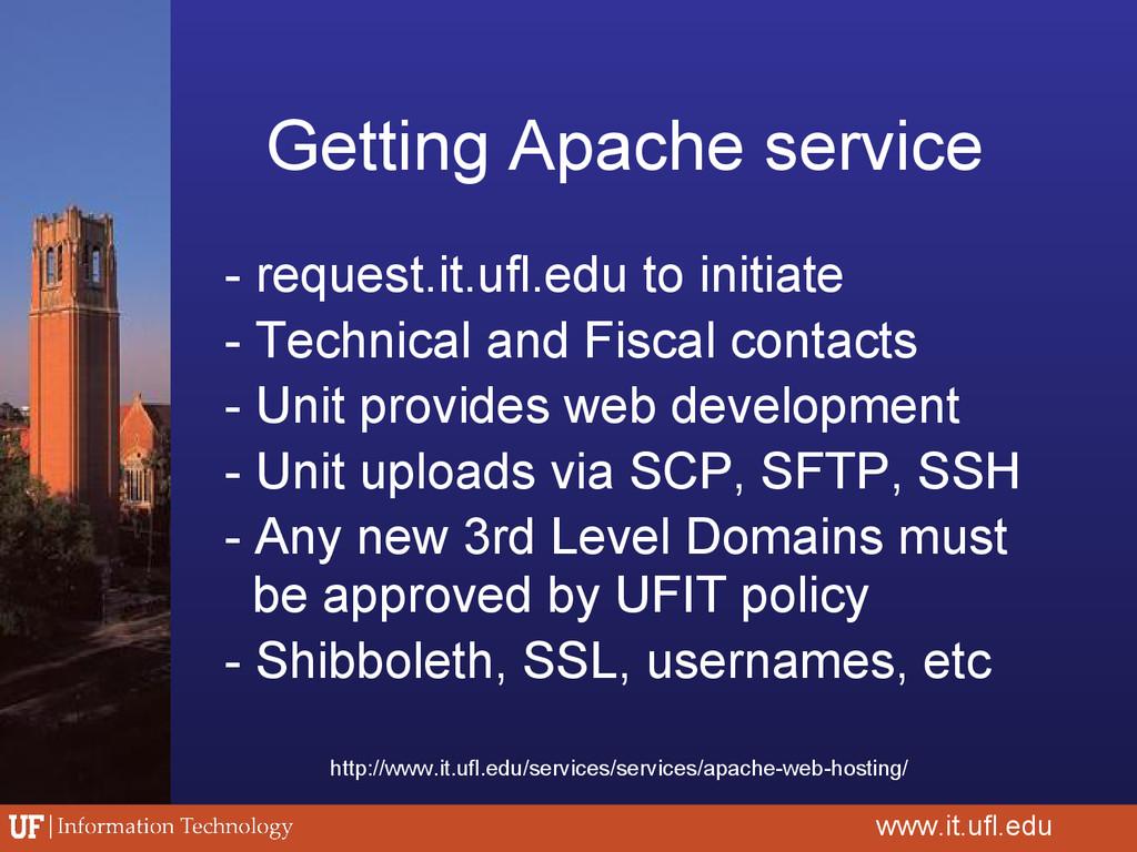 Getting Apache service - request.it.ufl.edu to ...