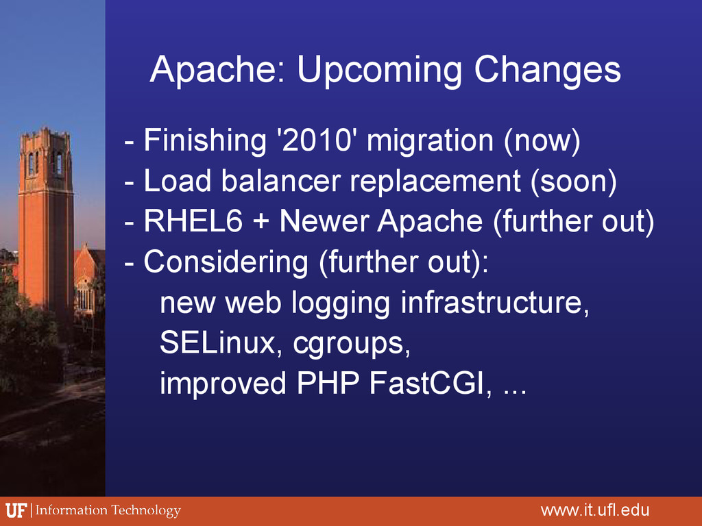 Apache: Upcoming Changes - Finishing '2010' mig...