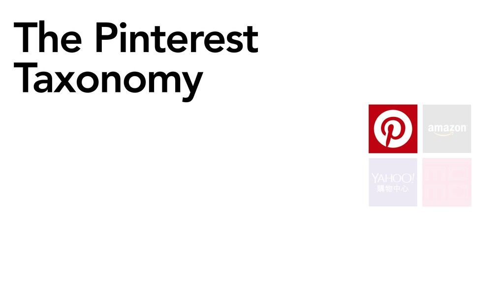 The Pinterest Taxonomy Help improve performance...