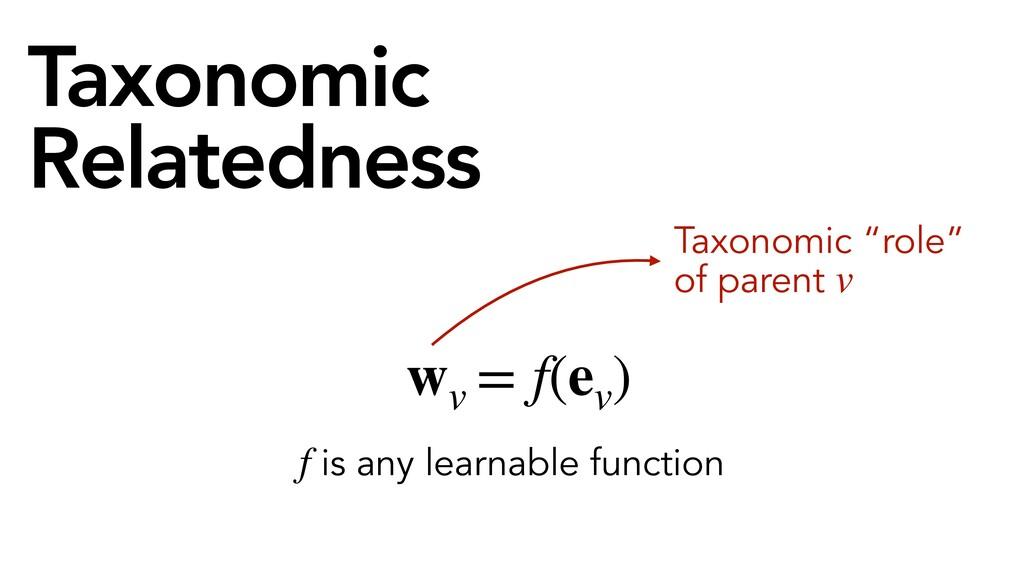 """Taxonomic Relatedness = f(ev ) Taxonomic """"role""""..."""
