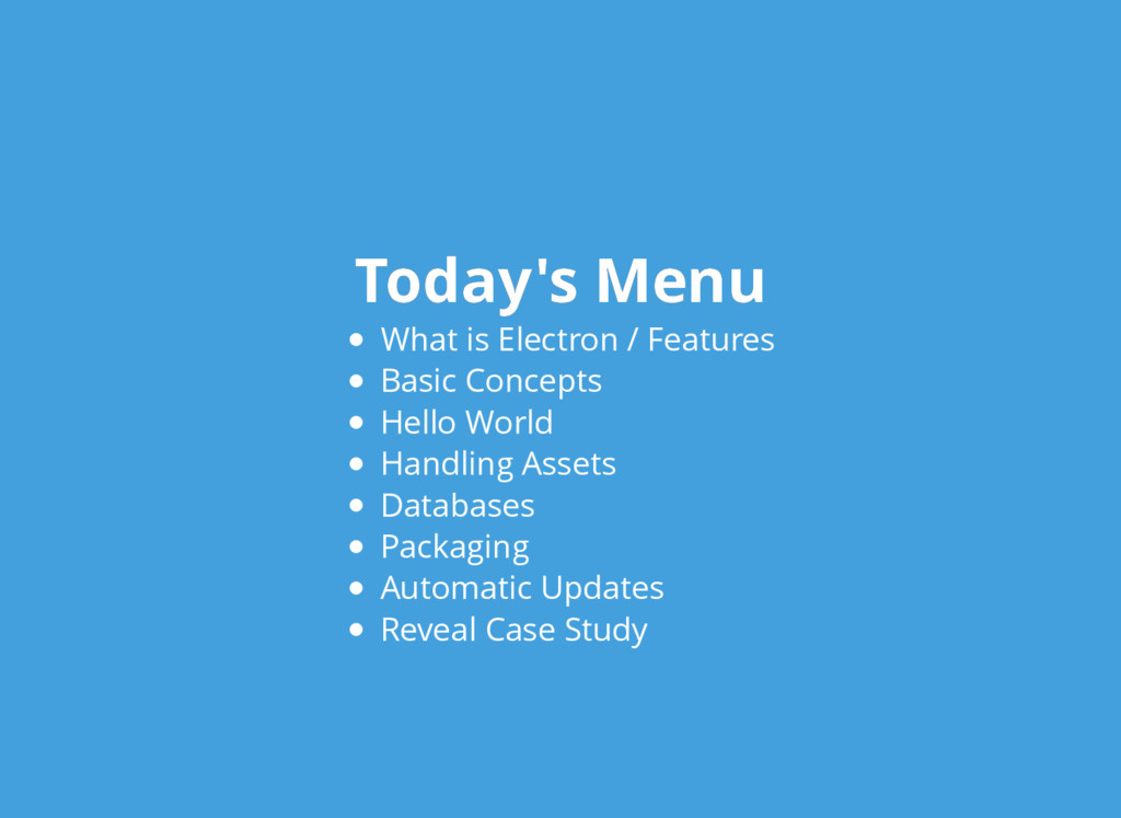 Today's Menu Today's Menu What is Electron / Fe...