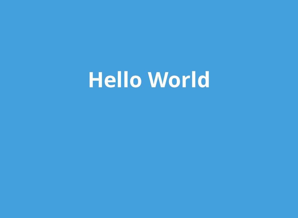 Hello World Hello World
