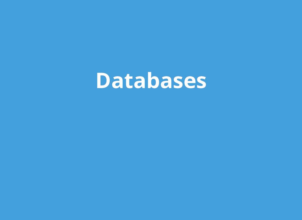 Databases Databases