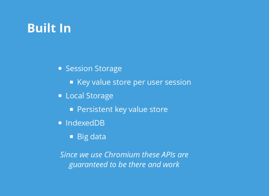 Built In Built In Session Storage Key value sto...