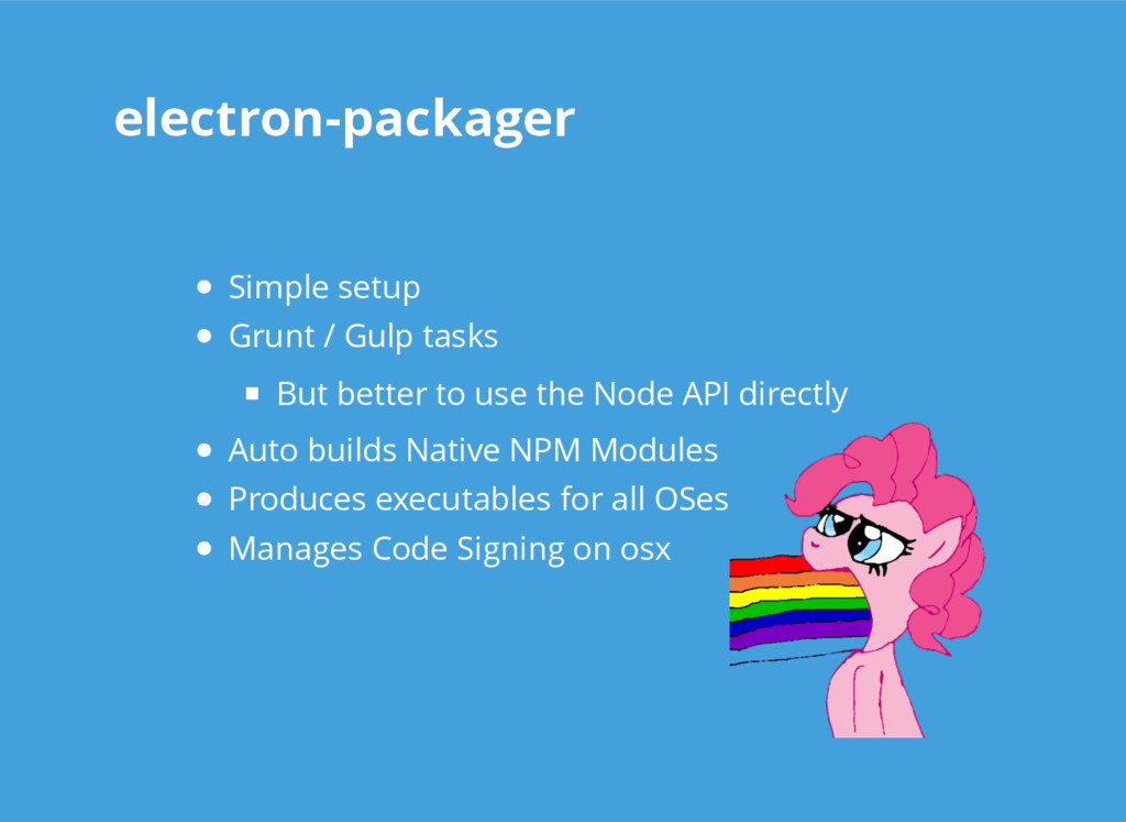 electron-packager electron-packager Simple setu...