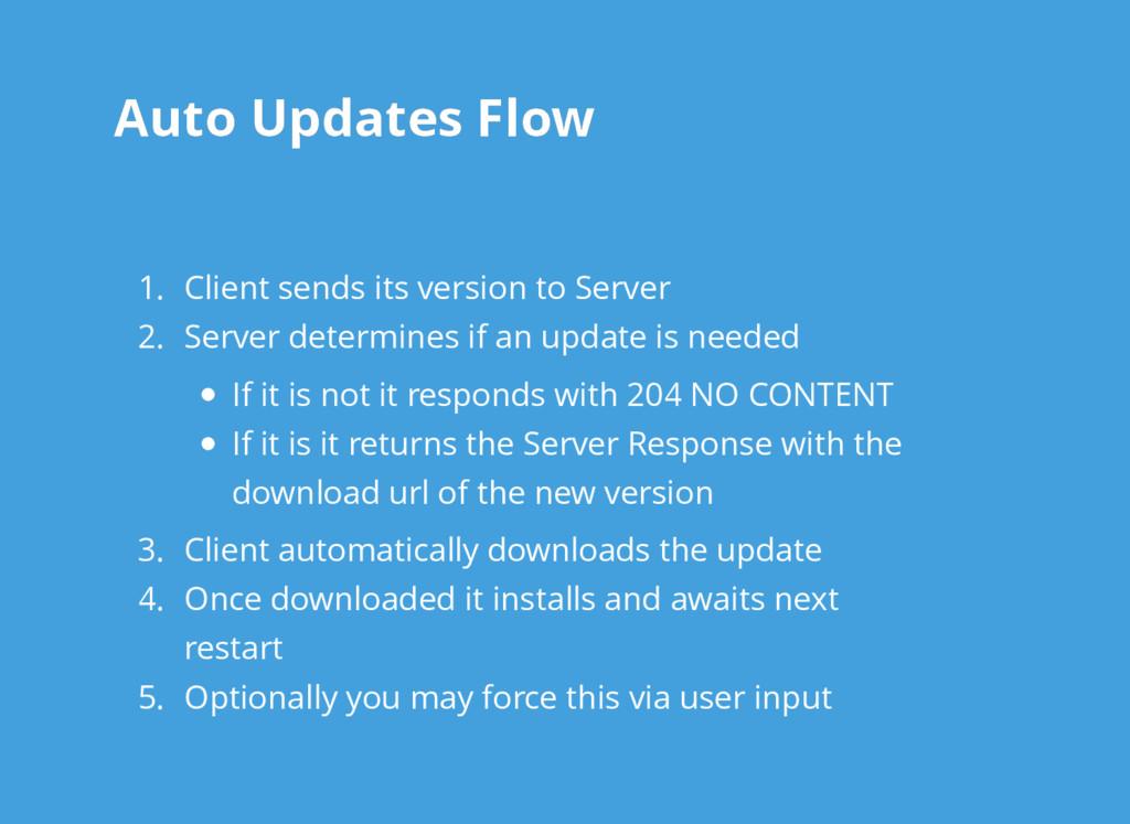Auto Updates Flow Auto Updates Flow 1. Client s...