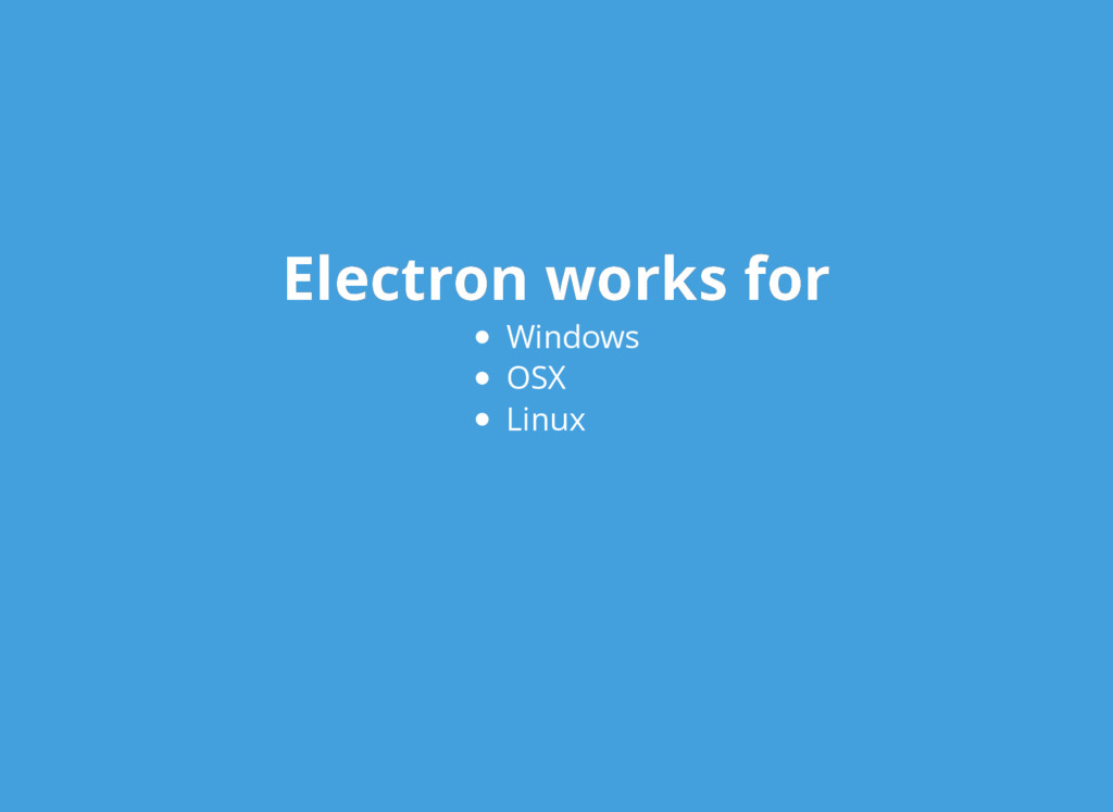 Electron works for Electron works for Windows O...