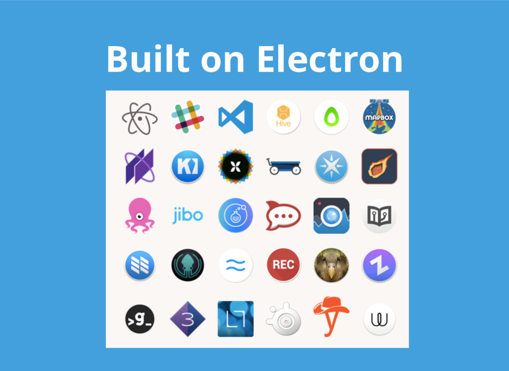Built on Electron Built on Electron