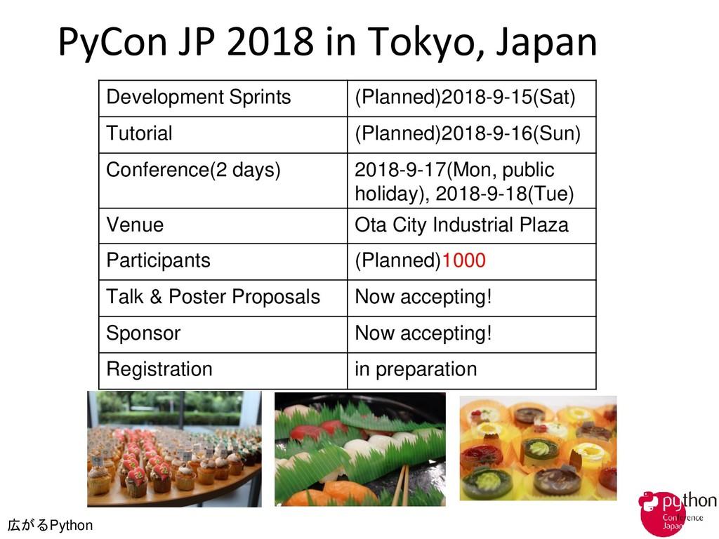広がるPython PyCon JP 2018 in Tokyo, Japan Develop...