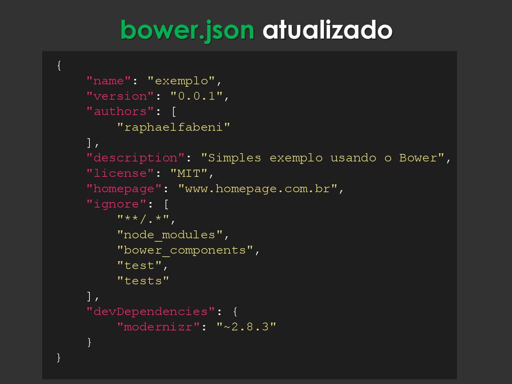 "{ ""name"": ""exemplo"", ""version"": ""0.0.1"", ""autho..."