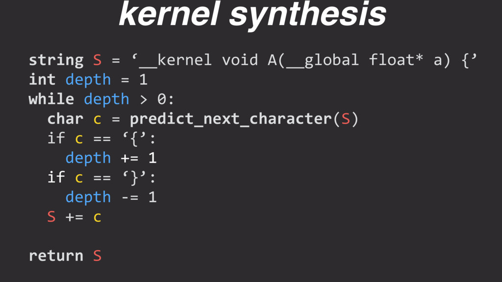 string S = '__kernel void A(__global float* a) ...