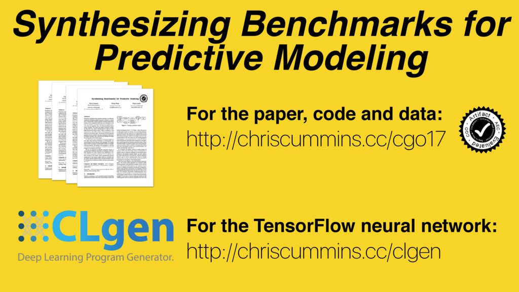Synthesizing Benchmarks for Predictive Modeling...