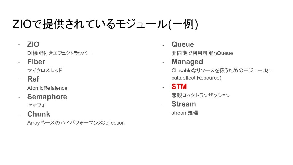 ZIOで提供されているモジュール(一例) - ZIO DI機能付きエフェクトラッパー - Fi...