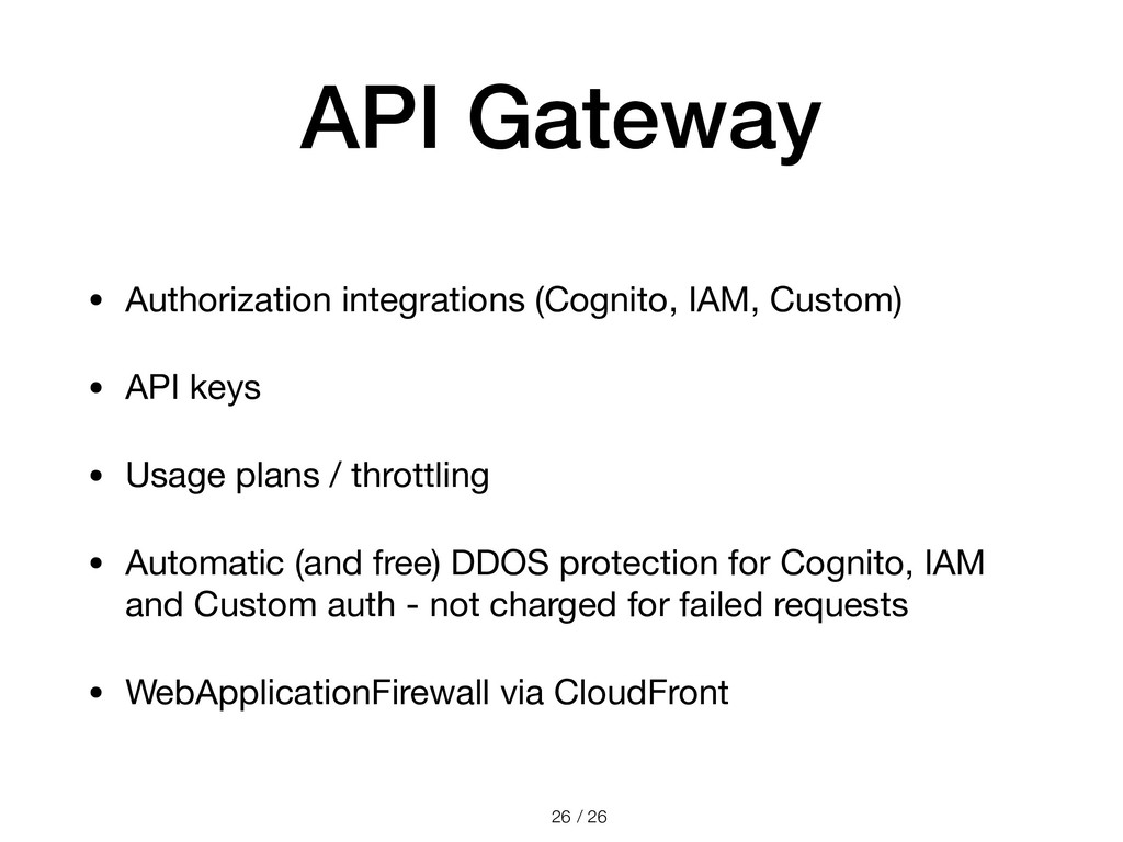 / 26 API Gateway • Authorization integrations (...