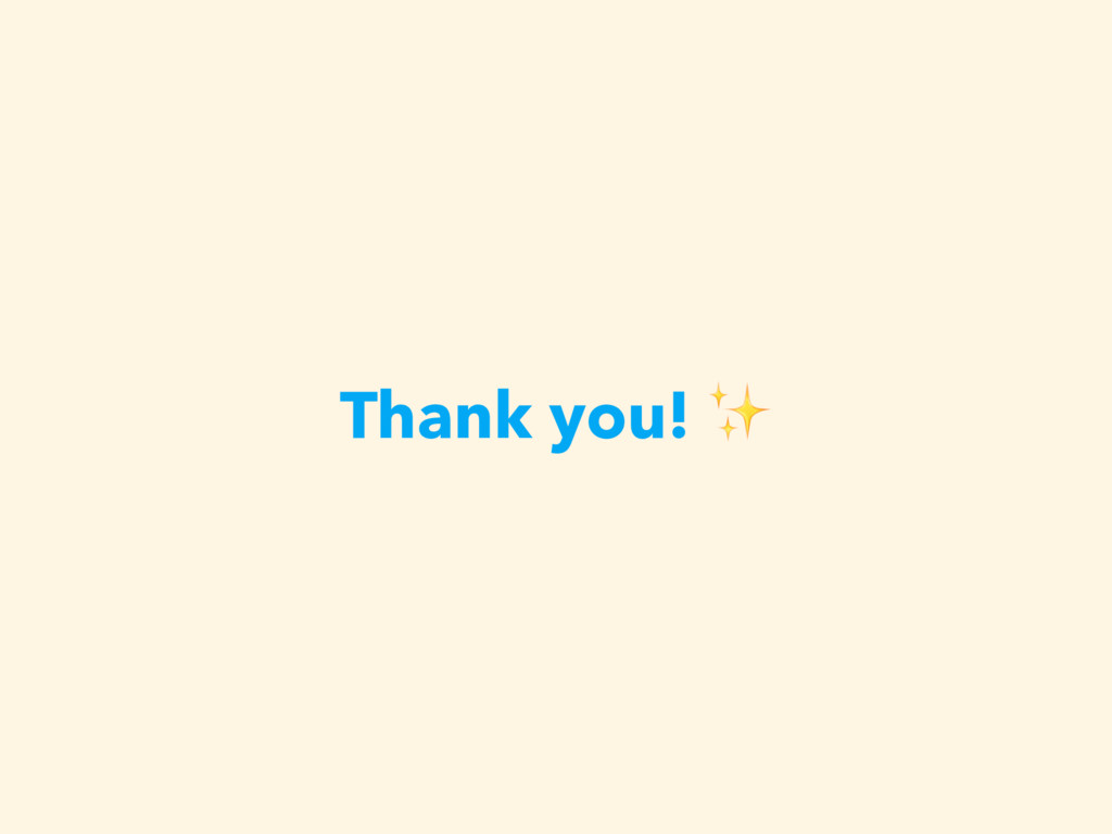 Thank you! ✨