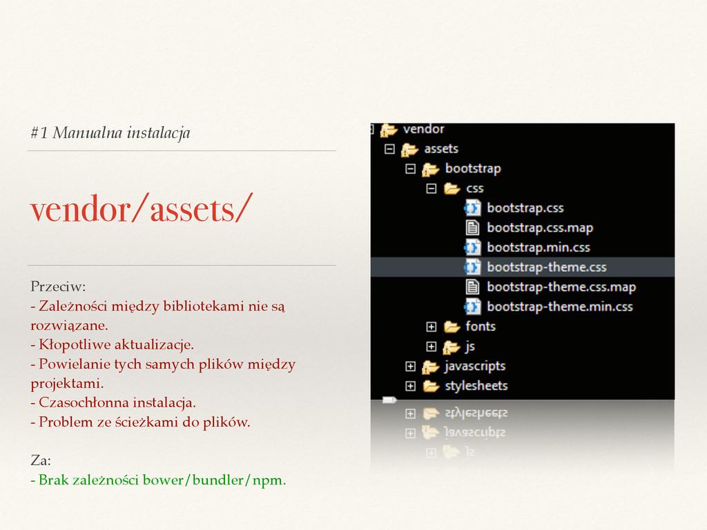 #1 Manualna instalacja vendor/assets/ Przeciw: ...