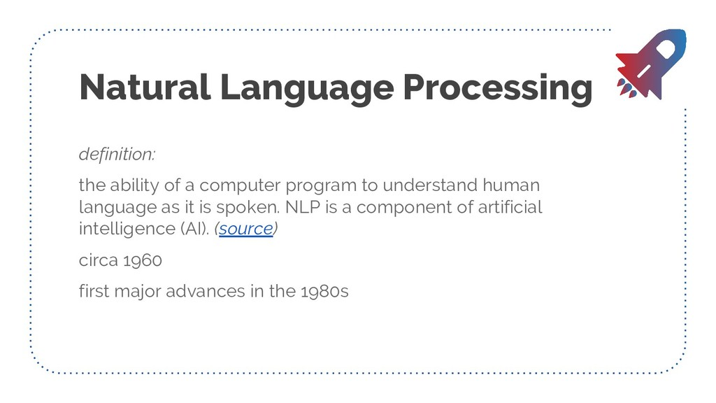 Natural Language Processing definition: the abi...