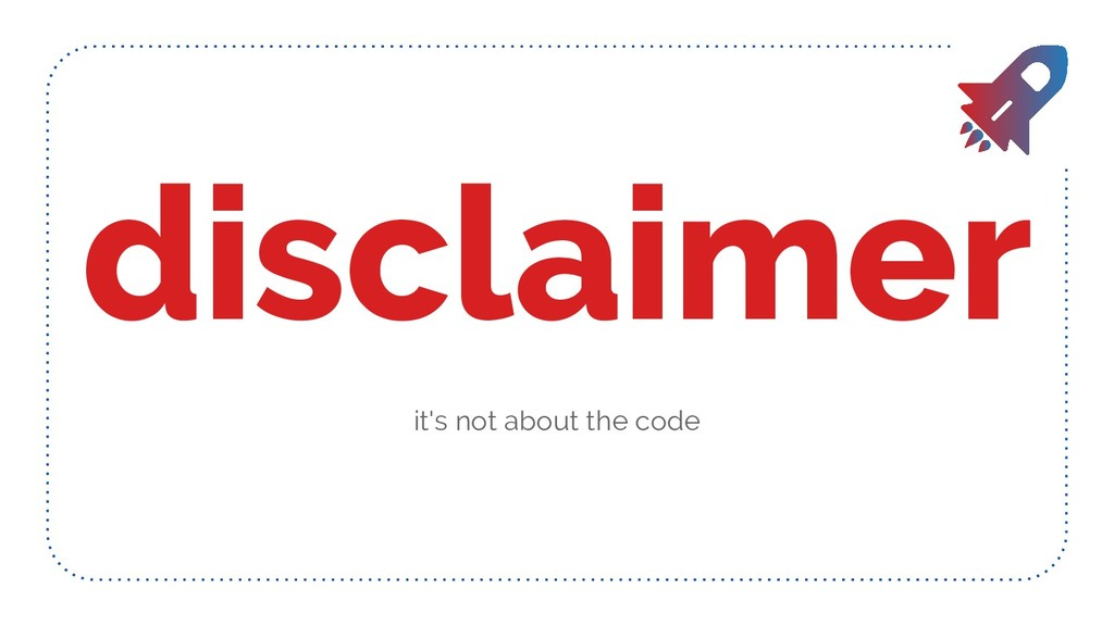 disclaimer it's not about the code