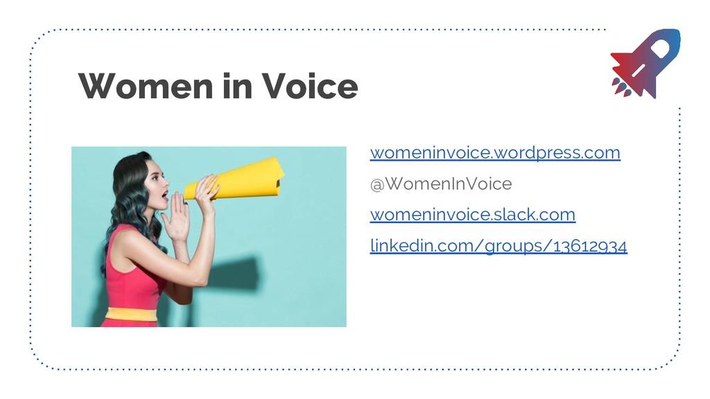 Women in Voice womeninvoice.wordpress.com @Wome...