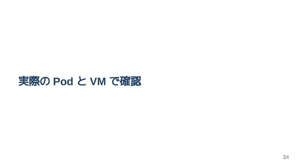 実際の Pod と VM で確認 34
