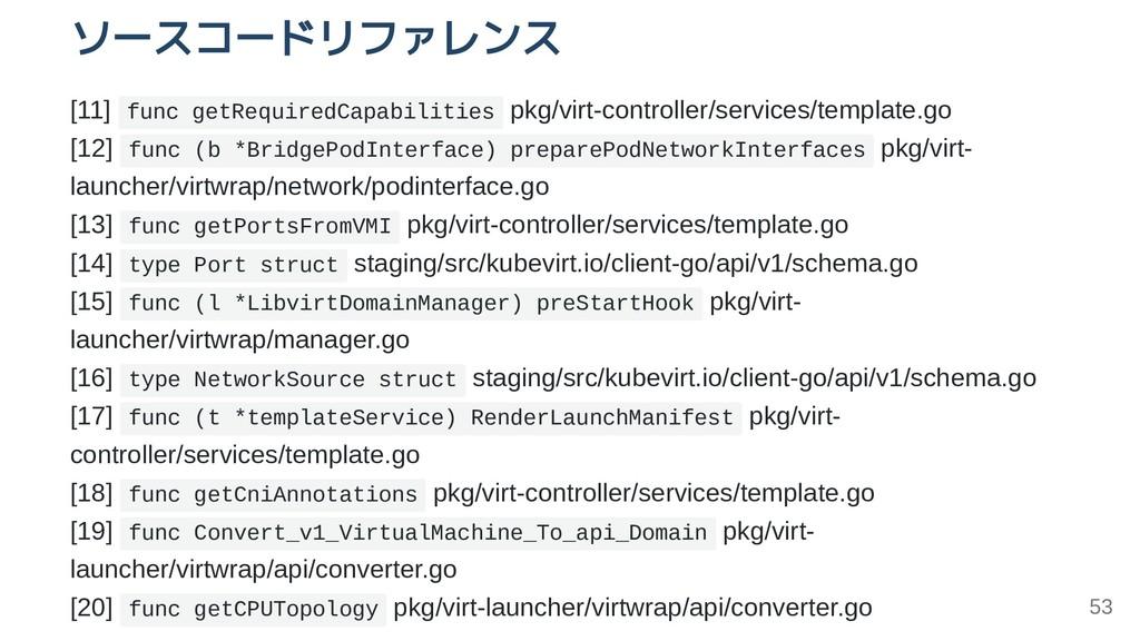 ソースコードリファレンス [11] func getRequiredCapabilities ...