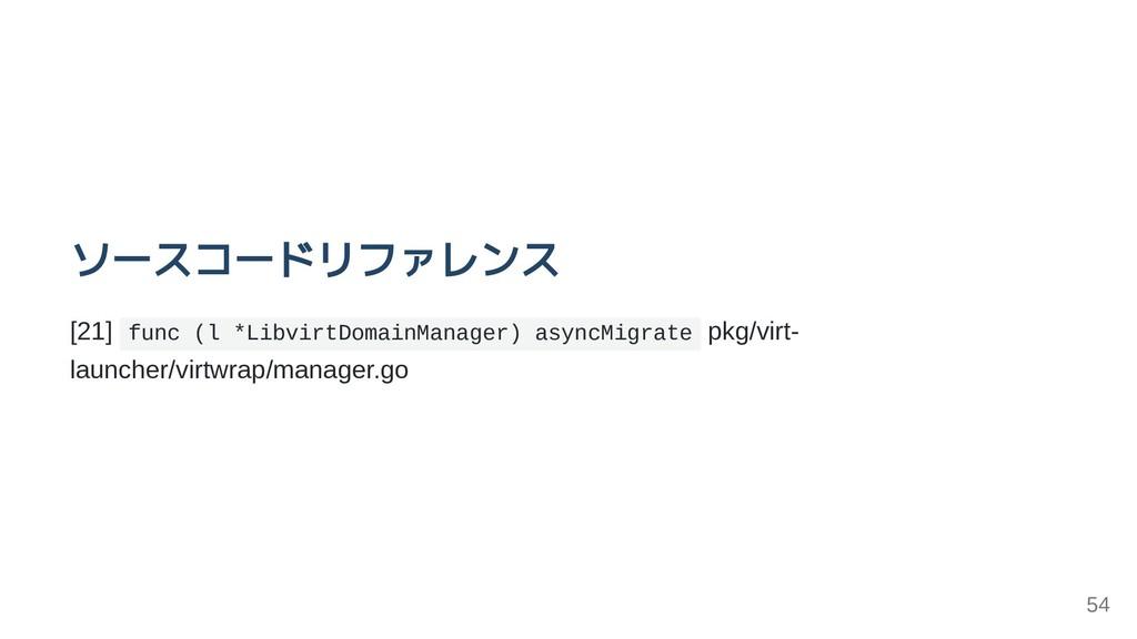 ソースコードリファレンス [21] func (l *LibvirtDomainManager...