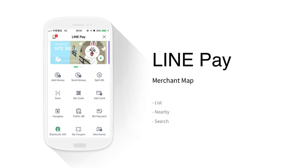 LINE Pay Merchant Map - List - Nearby - Search