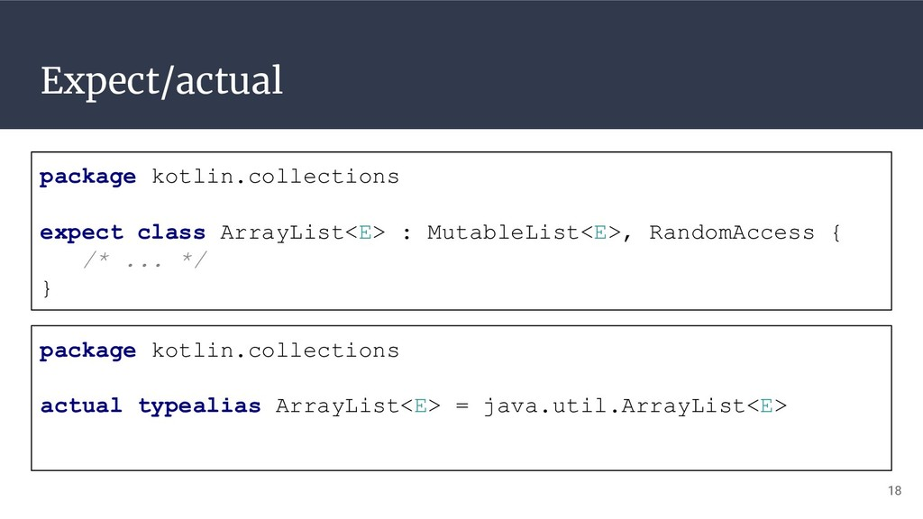 Expect/actual package kotlin.collections expect...