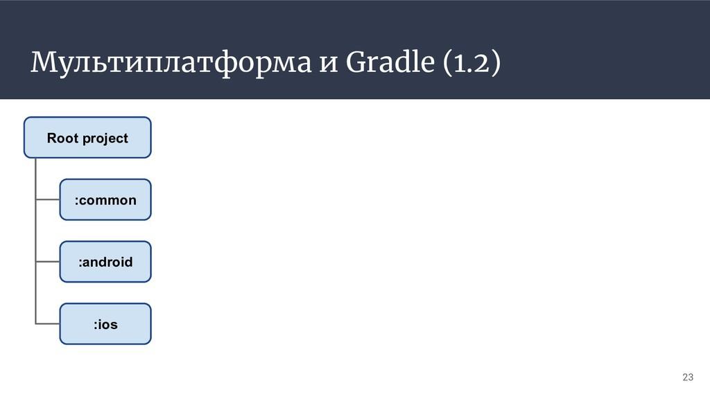 Мультиплатформа и Gradle (1.2) 23 :common :andr...