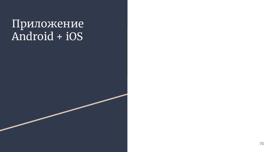 Приложение Android + iOS 70