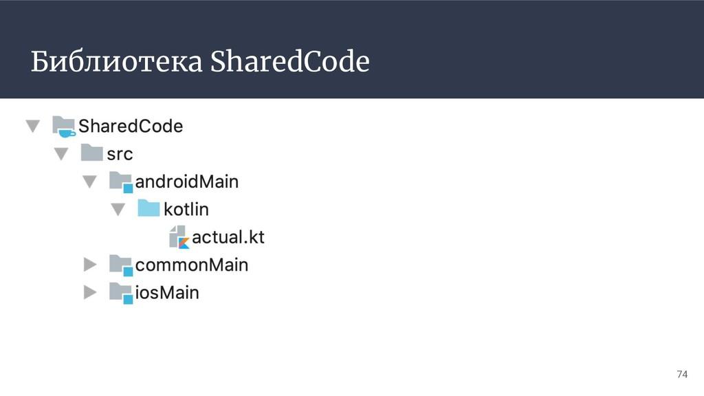 Библиотека SharedCode 74