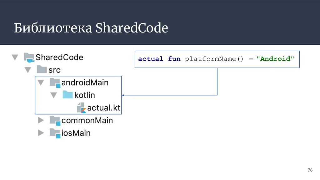 Библиотека SharedCode 76 actual fun platformNam...