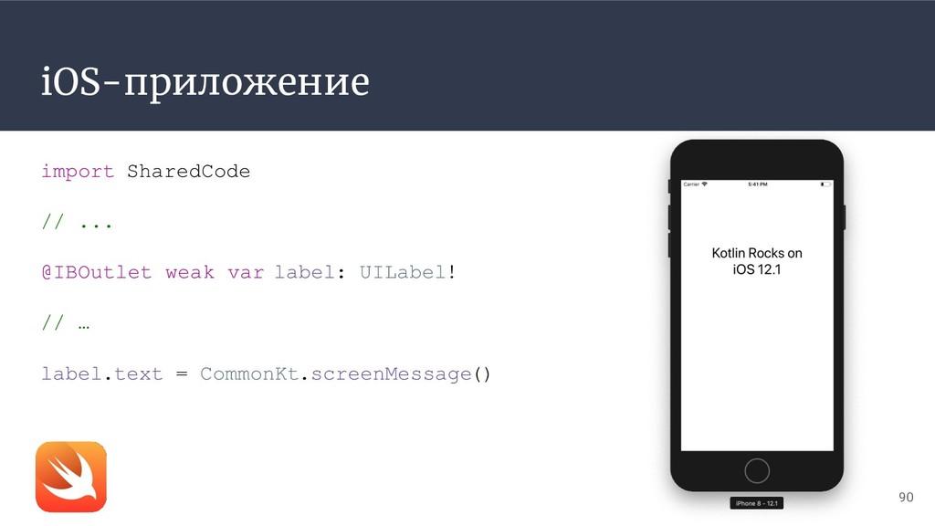 iOS-приложение 90 import SharedCode // ... @IBO...