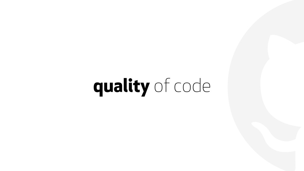 quality of code