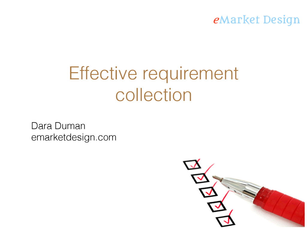 Effective requirement collection Dara Duman ema...
